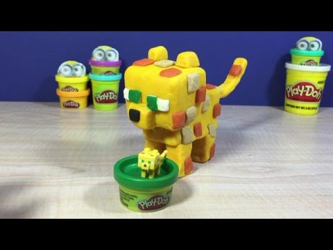 Baby Ocelot (Minecraft) made with Play-Doh