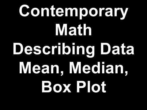 Contemporary Math Describing Data Mean, Median, Box Plot