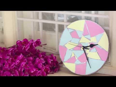 DIY TRENDY WALL CLOCK   LOVELY WALL CLOCK MAKING IDEAS  