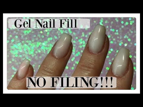 💅 How to Gel Nails Fill In at Home Apply Gel to Nails Evenly No Filing ✔️
