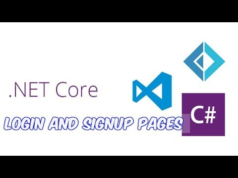 Dot Net Core 1.1 Login and Signup Part -2 | Making Login and Singup Pages