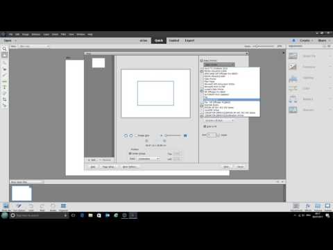 Using ICC printer profiles with Photoshop Elements 15