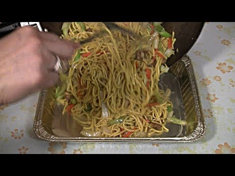 Pork Noodles Chow Mein Take Out Recipe  (Party Size Serving)  Wok Stir Fry
