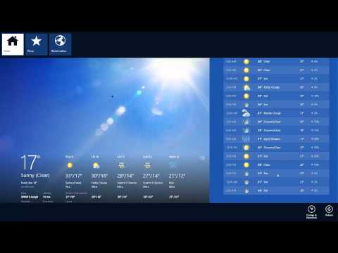 How you can change the degree on Weather app in Windows 8 from Fahrenheit to Celsius(better audio)