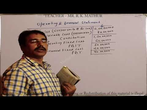 Calculation of Leverage Sums no 01 | Financial Management | Mathur Sir Classes