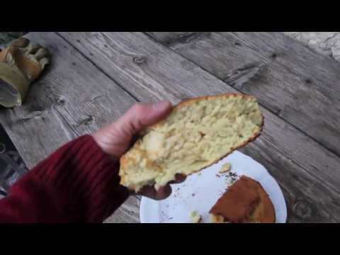 Rocket stove oven cooking - The Bannock
