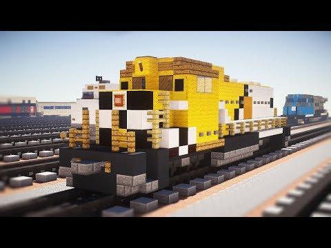 Minecraft GTA V Freight Train Locomotive Tutorial