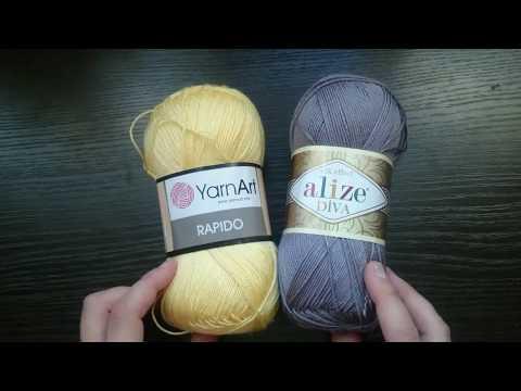ОТЗЫВ на пряжу Alize DIVA и Yarn art Rapido.