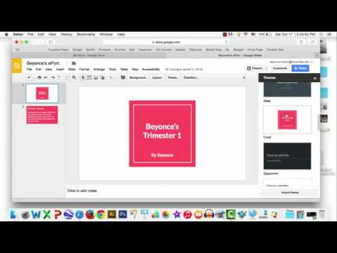 How to Change a Theme in Google Presentation