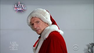 Liam Neeson Auditions For Mall Santa Claus