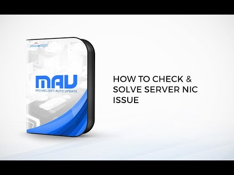 MichaelSoft Cybercafe Diskless System (MAU) -How To Check and Solve Server NIC Issue