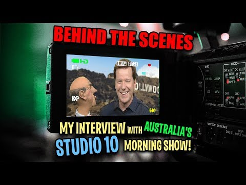BEHIND THE SCENES! My interview with Australia's Studio 10 morning show! | JEFF DUNHAM