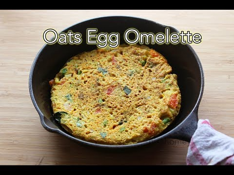 Oats Egg Omelette Recipe - How To Make Oats Omelette - Healthy Bachelor Recipes For Breakfast