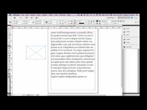 Adobe inDesign CS5.5 Tutorial Getting Started part 1