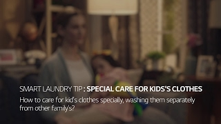LG TWINWash™ Washing Machine:  Special Care for Kids' Clothes
