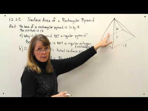 12-2C--Surface Area of Rectangular Pyramid