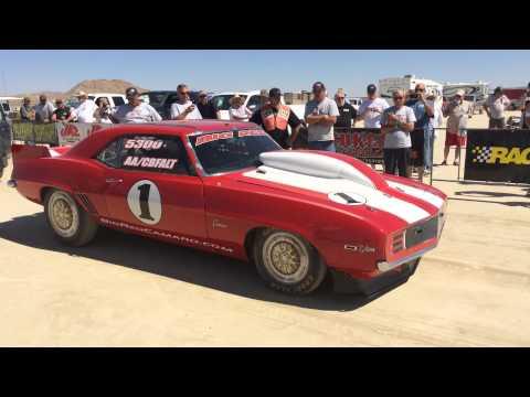 Big Red - 200+ MPH ProCharged Big Block Camaro Run - El Mirage