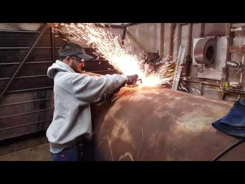 Plasma cutting into the Big S500 Smoker tank