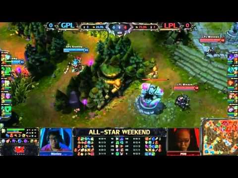 Garena GPL Team vs China LPL Team Game 1 - League of Legends All Stars - League of Legends All Stars
