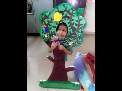 SRE SAI RISHITHA got first prize for fancy dress competition as a tree