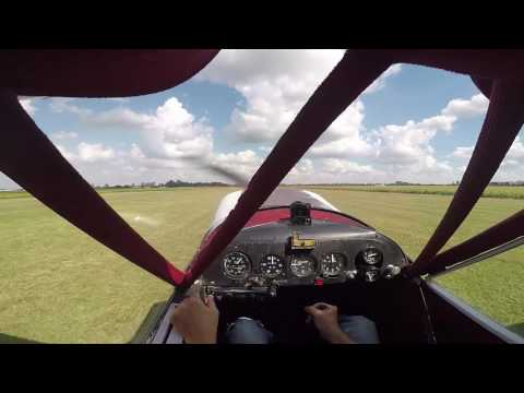 Flight training on a Piper Cub