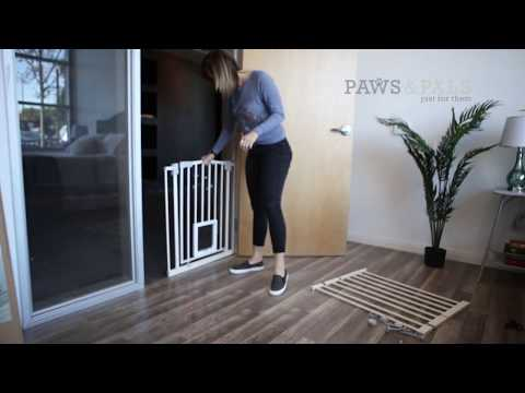 Paws and Pals Extra Wide Pet gate unboxing & Install