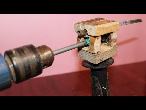 How to Make a Saw With Drill