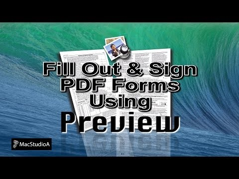 How To Fill Out & Sign PDF Forms Using Preview
