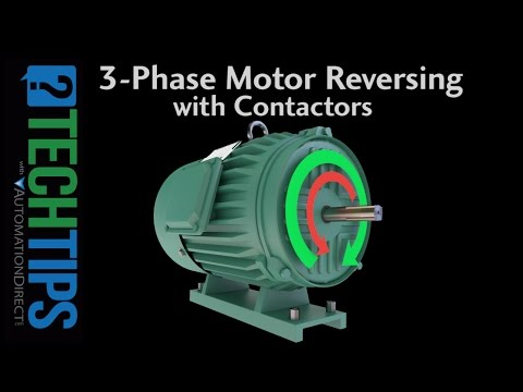 Tech Tip: Learn How To Properly Reverse the Direction of a Three Phase Motor Using Contactors