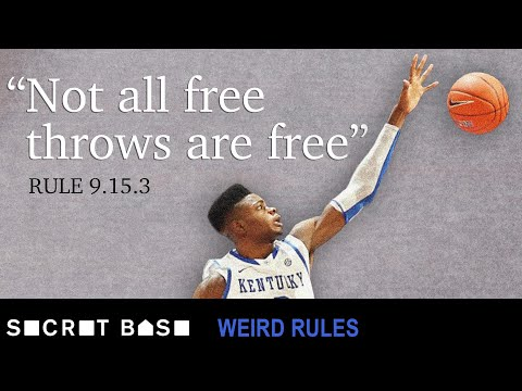 Kentucky once blocked a free throw to try to win a game | Weird Rules Ep 3