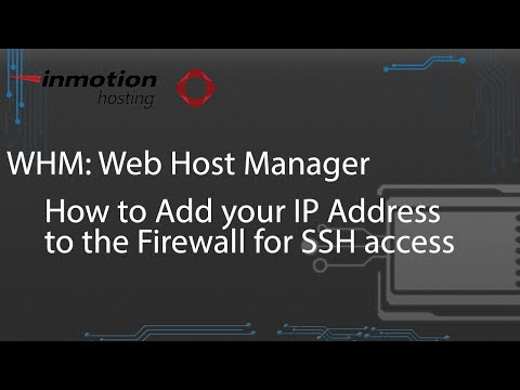 How to Add your IP Address to the Firewall for SSH access