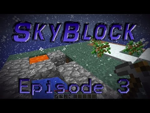 Minecraft- SkyBlock [3] Winter NothingLand!