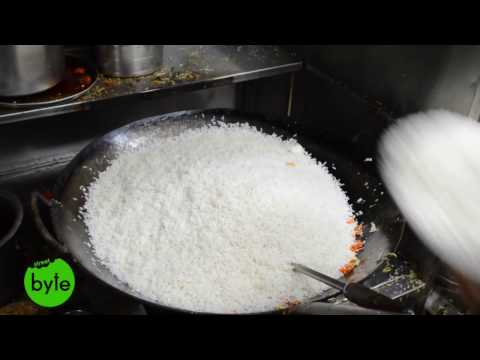Chicken Fried Rice with 12 Eggs for 16 People | Amazing Indian Street Food |