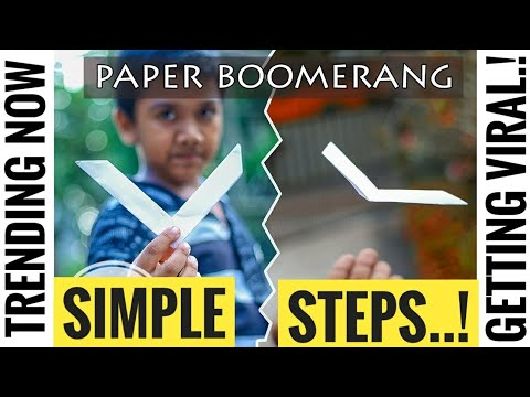 World's Best PAPER BOOMERANG....!!! (hitting 2 million views)