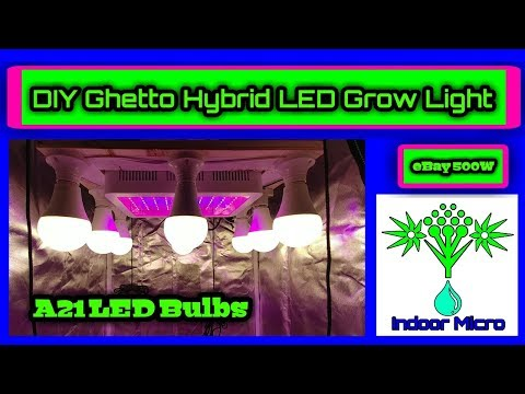 DIY LED Ghetto Hybrid Grow Light with eBay 500w Multispectrum Grow Light
