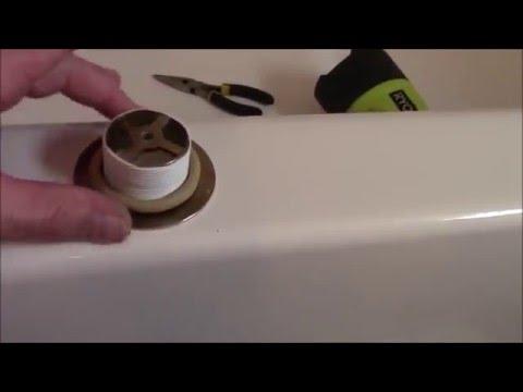How to repair leaking bathtub drain, DIY fix leaking bathtub drain. How to clear clogged tub drain