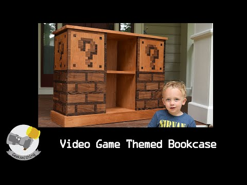 Hand Carved Mario Themed Bookcase // LET'S MAKE: