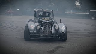 360 Video: Stunt Driver Does Donuts in a 1937 Ford Hot Rod