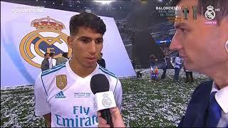 Achraf Hakimi en Real Madrid TV (Celebración de la 13 Champions del Madrid)