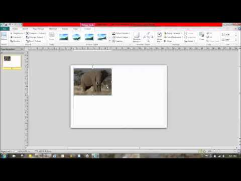 Importing and Editing Images in Publisher