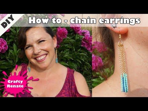 Do It Yourself earrings - Handmade chain earrings