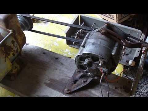 Alternator Demo, self energize, generator, arc welder