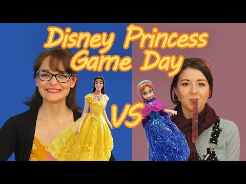 Disney Princesses Play Games! Featuring Belle, Anna, Shark Bite, Doggy Doo, and Build or BOOM!