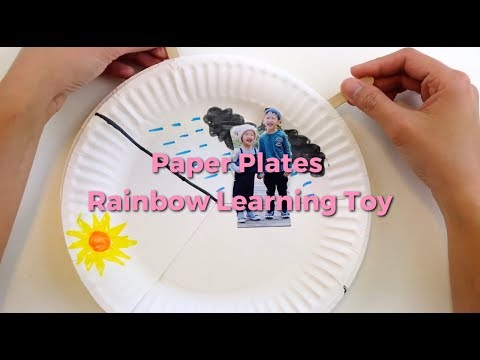 Rainbow Paper Plate Learning Toy