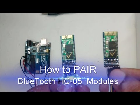 How to PAIR Bluetooth HC-05 Modules