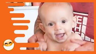 Lustigster Papa kümmert sich um Baby   süßes Baby Video