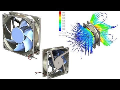 SolidWorks FL Tutorial #282 : PC Fan with flow simulation analysis