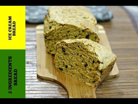 Ice Cream Bread-Easy Bread Recipe(2 ingredients)-Oreo Ice Cream Bread-How To Make Self-Rising Flour