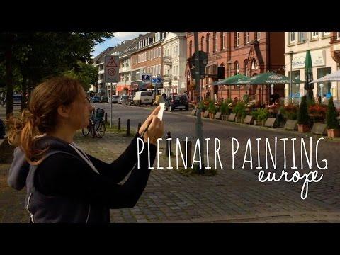 Plein-air Sketching in Europe: Nuemunster Germany on Watercolor by Scarlett Damen