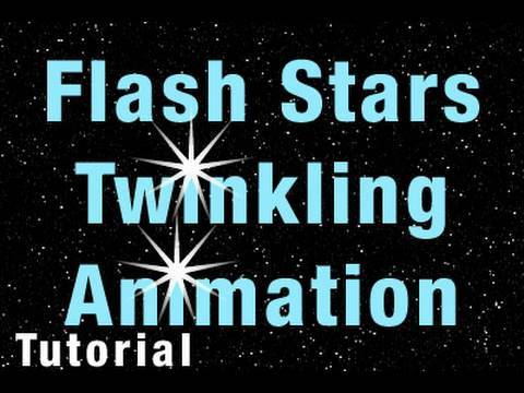Flash Tutorial Twinkling Animated Starfield Give Life to Star Shine Scene Easily